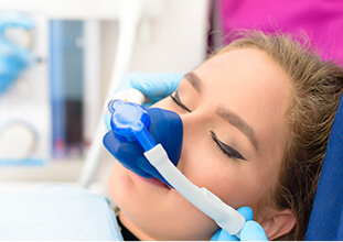 patient receiving nitrous oxide